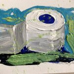 KlopapierRolle_blaugrün Anneliese Hermes